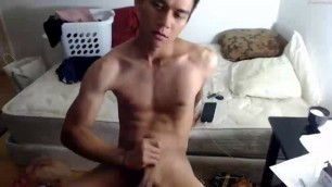 [CAM] Fkatwinkx_A Lean Muscled Asian Boy Jerks Off and Eats His Own Cum.MP4