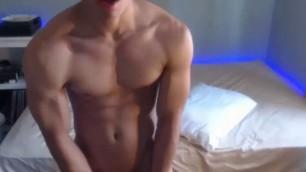 Lean Fit Asian Boy Cums Fountain with Omibod Ups Ass