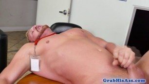 Horny office ginger getting anally ruined
