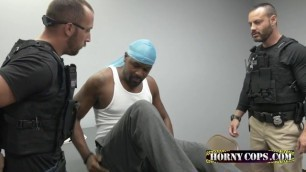 White Male Cop is craving for a Big Black Cock inside his ass!