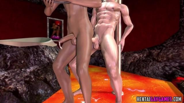 3D guys fucking in stripclub