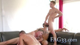 Four insane gays bonking their cocks and asses in the kitchen