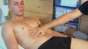 French Firefighter Gets Massaged his Big Dick by a Guy !