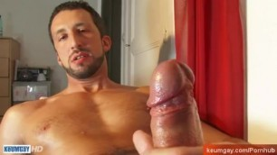 Italian Hunk get Wanked his Huge Cock by Us!
