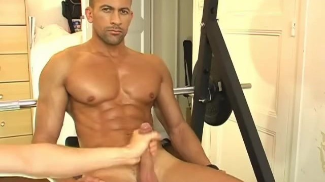 Handsome Breno Gets Wanked his Big Cock by us in Spite of him !