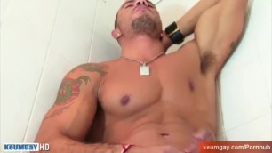 Sport Guy taking a Shower very Horny !