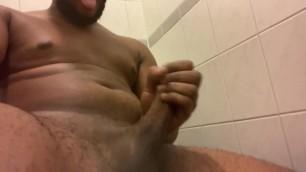 Young bbc shooting cum in ladies restroom