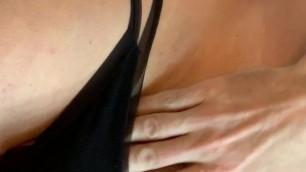 Cumming in gf black panty
